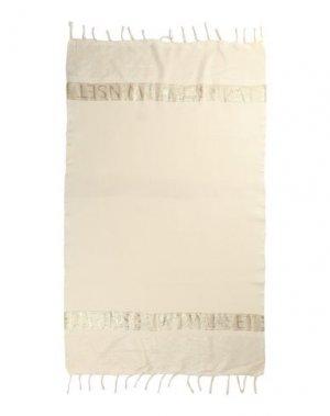 Пляжное полотенце TWINSET. Цвет: слоновая кость