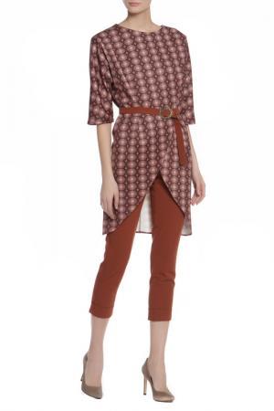 Костюм: туника, брюки Adzhedo. Цвет: коричневый