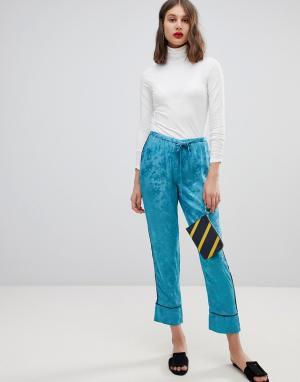 Жаккардовые брюки галифе -Черный Vero Moda