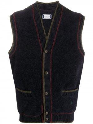 Вязаный жилет 1990-х годов Yves Saint Laurent Pre-Owned. Цвет: синий