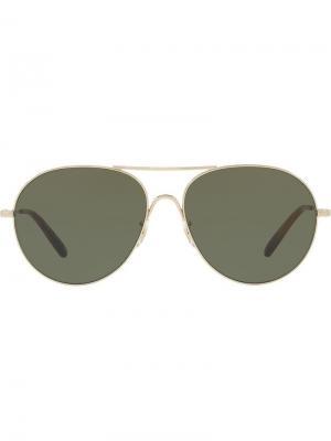 Солнцезащитные очки Rockmore Oliver Peoples. Цвет: золотистый