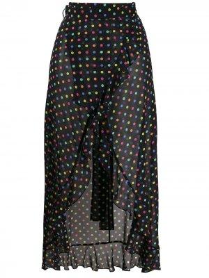 Полупрозрачная юбка в горох Agent Provocateur. Цвет: черный