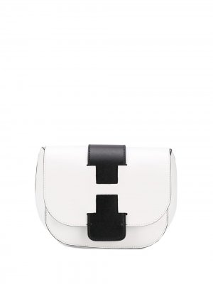 Рюкзак с контрастными вставками Hogan. Цвет: белый