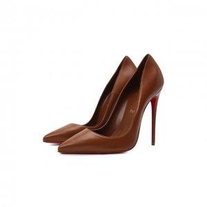 Кожаные туфли So Kate 120 Christian Louboutin. Цвет: коричневый