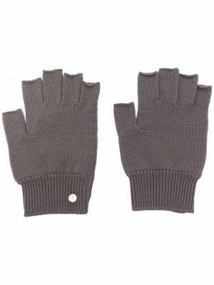 Трикотажные перчатки-митенки Rick Owens. Цвет: коричневый