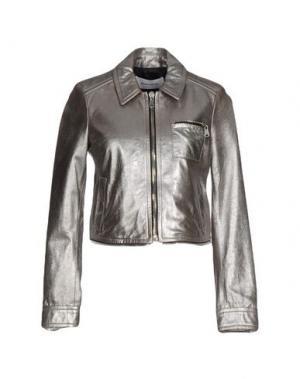 Куртка MAURO GRIFONI. Цвет: серебристый