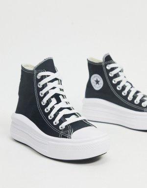 Черные высокие кеды на платформе Chuck Taylor Move-Черный Converse