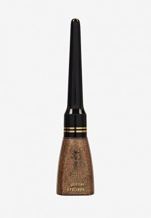 Подводка для глаз Catherine Arley №11 с блёстками бронза 9 мл. Цвет: золотой