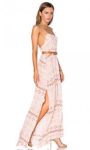 Платье willow FLYNN SKYE. Цвет: розовый