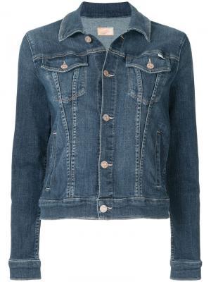 Классическая джинсовая куртка Mother. Цвет: синий