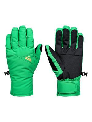Перчатки Quiksilver. Цвет: зеленый