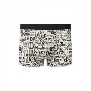 Хлопковые боксеры Dolce & Gabbana. Цвет: чёрно-белый