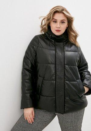 Куртка кожаная Persona by Marina Rinaldi PAPILLA. Цвет: черный
