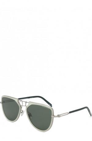 Солнцезащитные очки CALVIN KLEIN 205W39NYC. Цвет: темно-зеленый