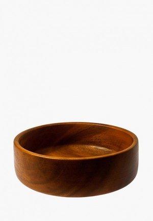 Салатник Oriental way 26*26 см. Цвет: коричневый