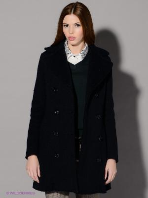 Пальто Maison espin. Цвет: темно-синий