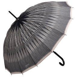 Зонт механический 1268 черный JEAN PAUL GAULTIER