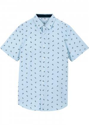 Рубашка с коротким рукавом bonprix. Цвет: лиловый