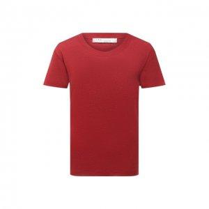 Льняная футболка Iro. Цвет: красный