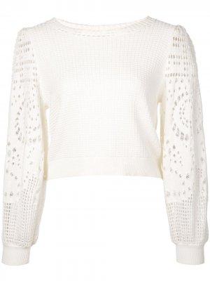 Джемпер вязки кроше A.L.C.. Цвет: белый
