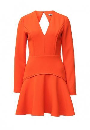 Платье Finders Keepers FI022EWJHG37. Цвет: оранжевый