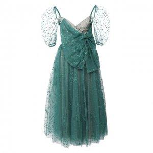 Платье-миди REDVALENTINO. Цвет: зелёный