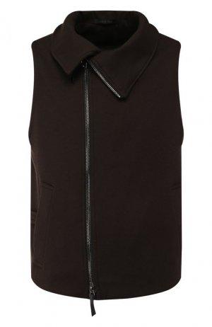 Кашемировый жилет Giorgio Armani. Цвет: коричневый