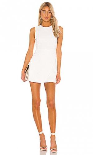 Мини платье kelsey Alice + Olivia. Цвет: белый