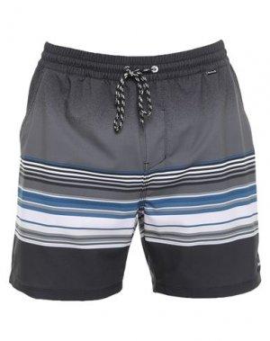 Шорты для плавания HURLEY. Цвет: черный