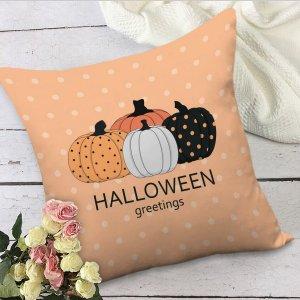 Чехол для подушки без наполнителя на хэллоуин тыква SHEIN. Цвет: многоцветный