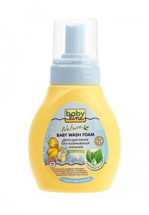Пена для купания Babyline Детская подмывания малыша с растительными экстрактами дозатором, 250 мл