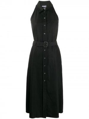 Платье-рубашка без рукавов Aspesi. Цвет: черный