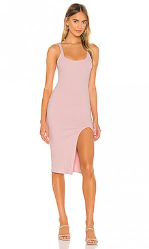 Платье миди kira Privacy Please. Цвет: розовый