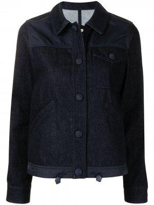 Джинсовая куртка со вставками Moncler. Цвет: синий