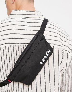 Черная сумка-кошелек на пояс с маленьким логотипом Levis-Черный цвет Levi's