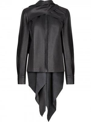 Драпированная блузка Fendi. Цвет: черный