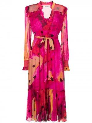 Платье миди Meredith с принтом DVF Diane von Furstenberg. Цвет: розовый