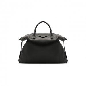 Кожаная дорожная сумка Givenchy. Цвет: чёрный