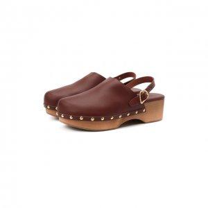 Кожаные сабо Classic Ancient Greek Sandals. Цвет: коричневый