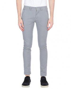 Повседневные брюки EXCLUSIVE. Цвет: серый