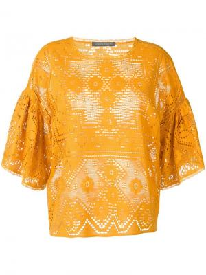 Блузка с кружевными вставками Alberta Ferretti