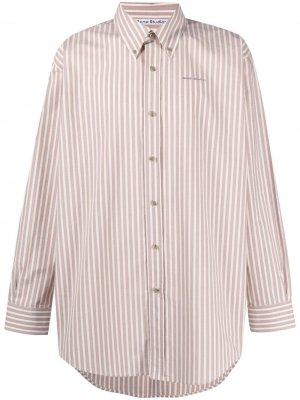 Полосатая рубашка на пуговицах Acne Studios. Цвет: розовый