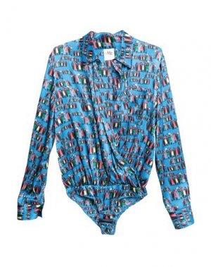 Pубашка ATTIC AND BARN. Цвет: небесно-голубой