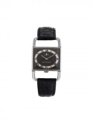 Наручные часы Etrier 23 мм 1970-х годов Jaeger-LeCoultre. Цвет: черный