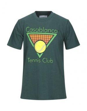 Футболка CASABLANCA. Цвет: темно-зеленый