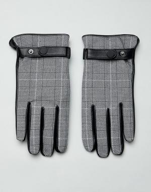 Черные кожаные перчатки для сенсорных гаджетов -Черный ASOS DESIGN