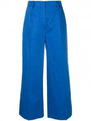 Укороченные широкие брюки Sonia Rykiel. Цвет: синий