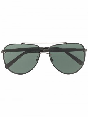 Солнцезащитные очки-авиаторы C28 Chopard Eyewear. Цвет: черный