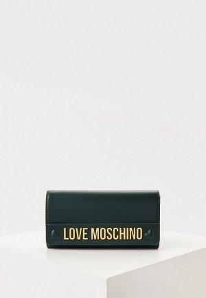Кошелек Love Moschino. Цвет: зеленый