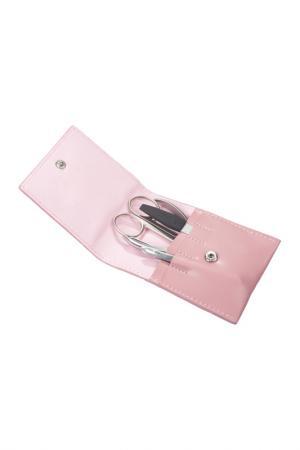 Маникюрный набор, 4 пр GD. Цвет: розовый